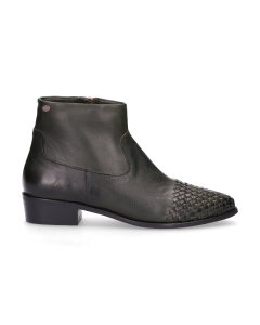 Ankle-boot-waxed-smooth-leather-Green