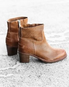 Ankle-boot-smooth-printed-leather-Cognac
