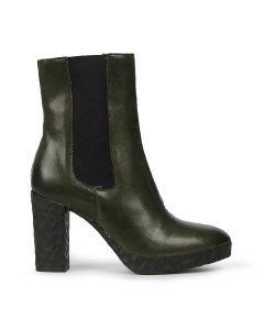 Ankle-boot-smooth-leather-Dark-Green