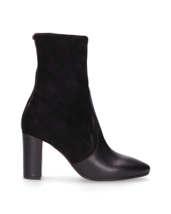 Ankle-boot-smooth-leather-with-stretch-suede-Black