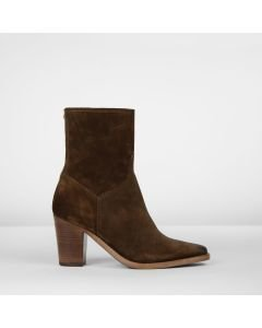 Ankle boot suede Dark Brown