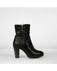 Ankle boot grain leather Black