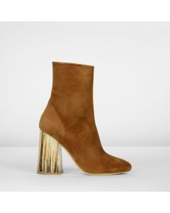 Ankle boot suede Cognac