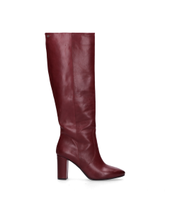 Boot-smooth-leather-Bordeaux
