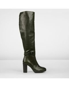 Boot smooth leather Dark Green