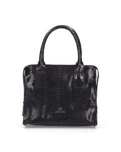 Handbag-Large-printed-leather-Black