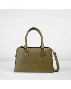Handbag-Suzanna-smooth-leather-olive