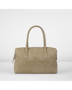 Handbag hand buffed leather Beige