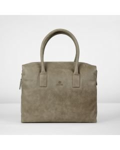 Handbag hand buffed leather Taupe