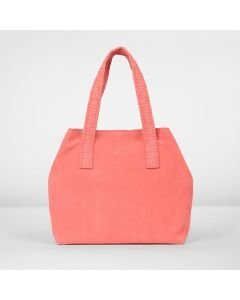Shoulderbag-suede-coral-red