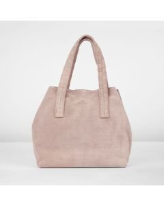 Shoulderbag-suede-soft-rose