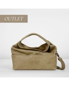 Shoulderbag hand buffed leather Light Brown