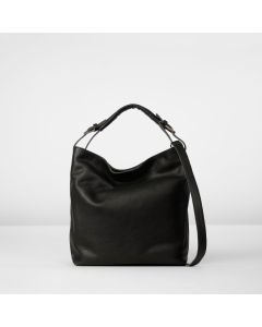 Shoulderbag grain leather Black