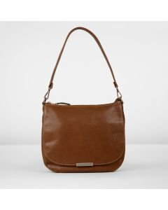 Shoulderbag grain leather Brown
