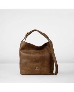 Shoulderbag hand buffed leather Brown