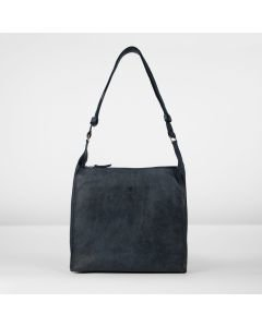 Shoulderbag hand buffed leather Dark Blue