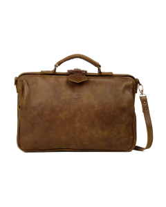 Business-bag-hand-buffed-leather-medium-Brown