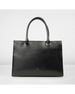 Workingbag-medium-vedgetable-tanned-leather-black