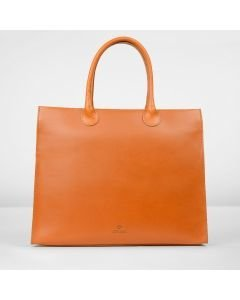 Workingbag-large-vegetable-tanned-leather-cognac