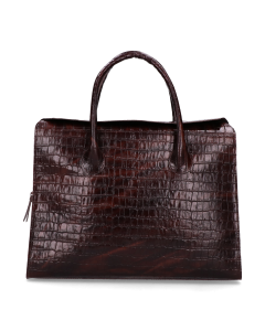 Businessbag-printed-leather-Cognac