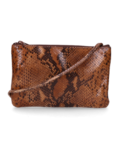 Cross-body-envelope-bag-printed-leather-Brown