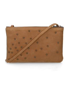 Eveningbag-with-studs-suede-Brown