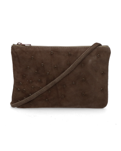 Cross-body-luxury-suede-Dark-Olive