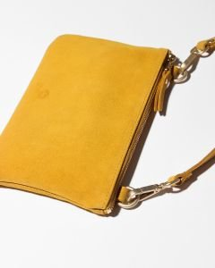 Evening-bag-suede-Yellow