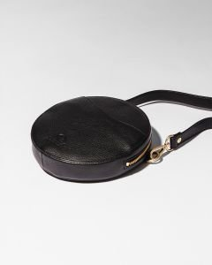 Round-evening-bag-grain-leather-Black-