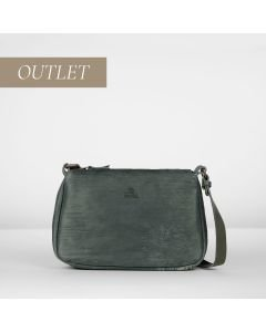 Cross body cutted leather Blue