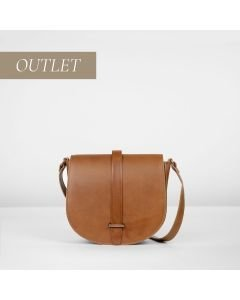 Cross body natural dyed smooth leather Brown