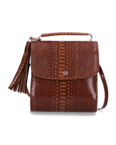 Cross-body-printed-leather-Brown