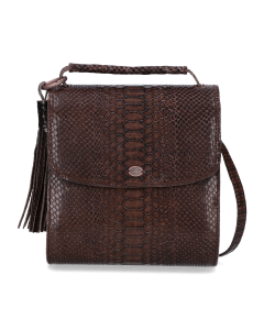 Cross-body-geprint-leer-donker-taupe-