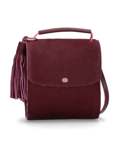 Cross-body-haircalf-leather-Bordeaux