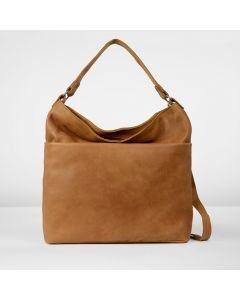Shoulderbag hand buffed leather Cognac