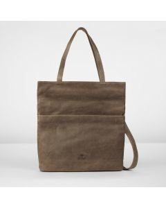 Shoulderbag grain leather Taupe