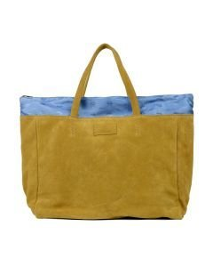 Shopper-large-suede-Mustard-Yellow