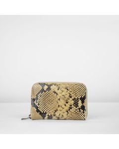 Wallet-small-snake-printed-leather-taupe