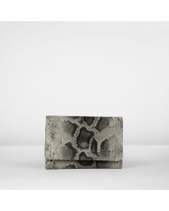 WALLET SMALL FAUX PYTHON LEATHER Taupe