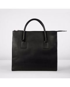 Business bag natural dyed leather Black