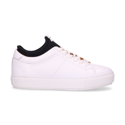 White-sneaker-smooth-leather-with-neoprene-sock-black-