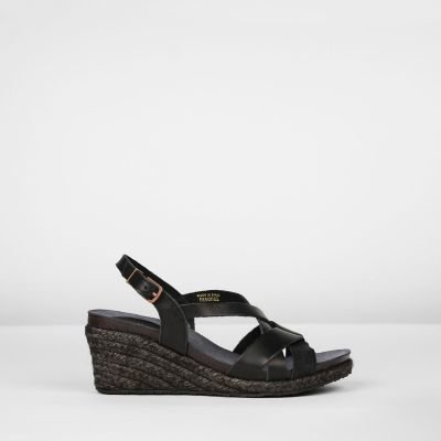 Espadrille-wedges-braided-smooth-leather-black