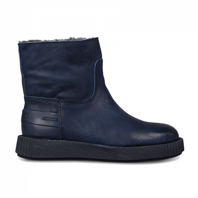 Ankle-boot-grain-leather-Dark-Blue