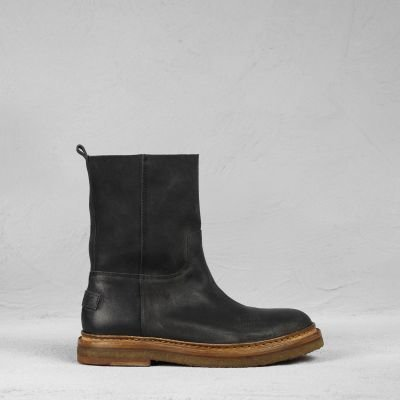 Ankle-boot-waxed-suede-Black