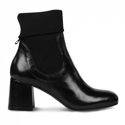 Ankle-boot-calfleather-Black