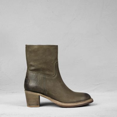 Ankle-boot-waxed-grain-leather-Dark-Olive