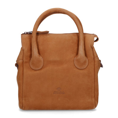 Handbag-hand-buffed-leather-Brown