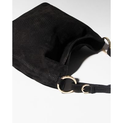 Shoulderbag-cutted-leather-Black-