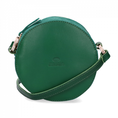 Evening-bag-suede-and-smooth-leather-Green-