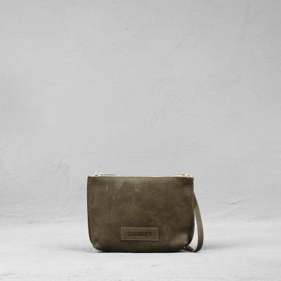 Shoulderbag-waxed-grain-leather-Olive-Brown